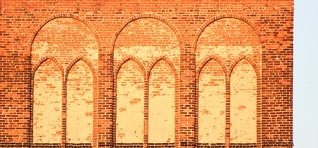 image created 21st century:   Architectural element of a church tower. Stock Photo