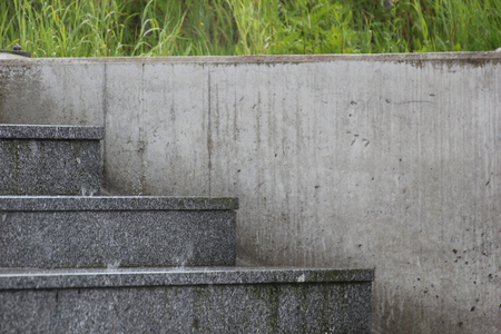 image created 21st century:   Public stairs in heavy rain in Germany. Stock Photo