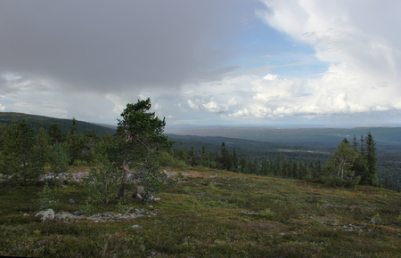 image created 21st century: View from the mountain storfj�llet near Saelen, Sweden.