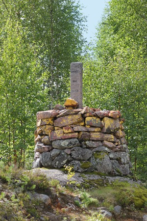 image created 21st century: Landmark at the border of Sweden and Norway.