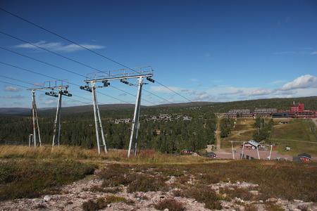 View from H?gfj?llet in the ski region near S?len, Dalarna, Sweden. photo