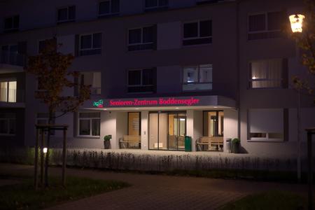 greifswald: Newly built nursing home Senioren-Zentrum Boddensegler in Greifswald, Mecklenburg-Vorpommern, Germany.