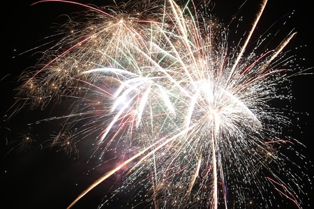 Fireworks on pure black background (can easily be set on a custom background).