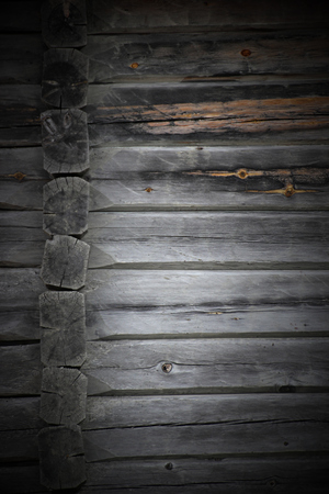 image created 21st century: Architectural detail (wall and edge) of log house. Stock Photo