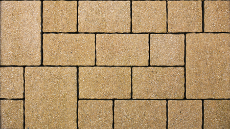 image date: A yellow concrete pavement texture. Stock Photo