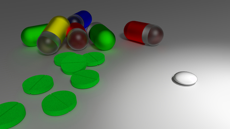 raytracing: A small white pill as replacement for many big and colorful medicaments.