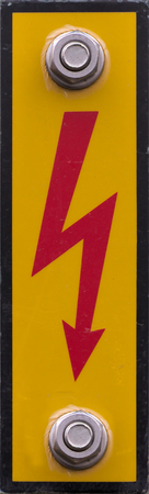 high voltage sign: High voltage sign in Germany.