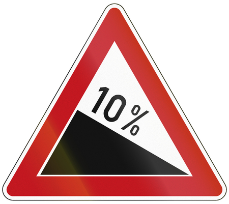 the decline: German warning sign about decline.