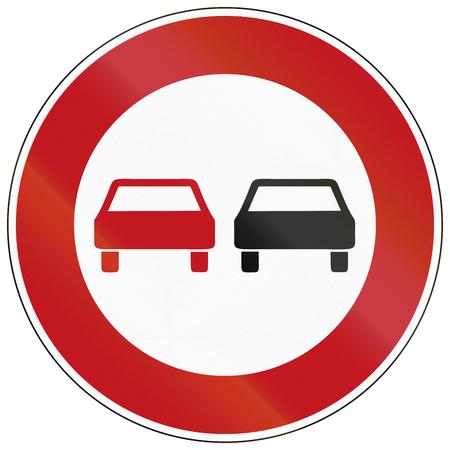 German traffic sign: No overtaking! photo