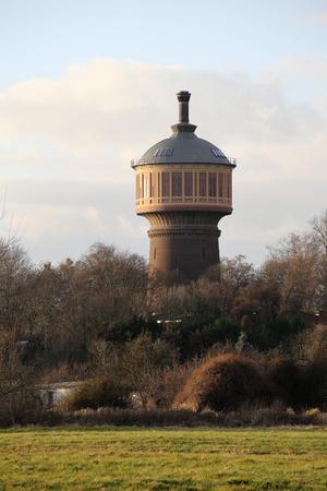 wody wieży: Old water tower on Magdeburg Buckau, Saxony-Anhalt, Germany.