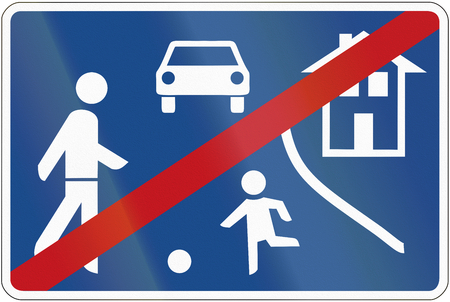 German traffic sign: End of home zone. photo
