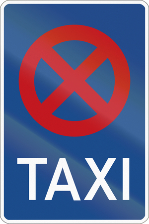 image created 21st century: Sign at a taxi rank where stopping is forbidden. Stock Photo