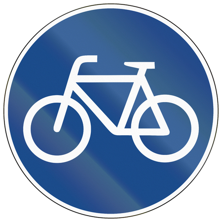 bicycle lane: German sign for bicycle lane.