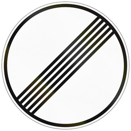 ドイツの交通標識: すべての速度と通過制限の終わり。