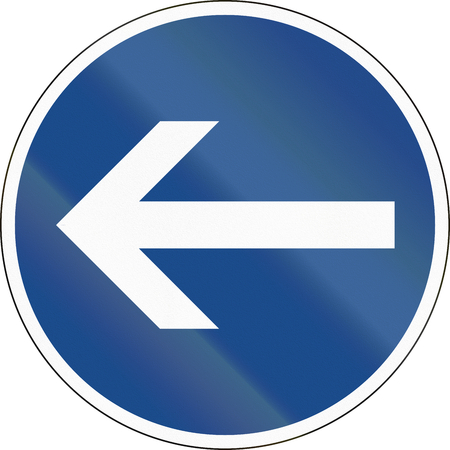 turn left: German traffic sign: Turn left