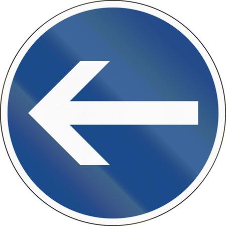 turn left: Traffico tedesco segno: Girare a sinistra