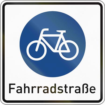 자전거 도로에 대한 독일어 기호, 단어 의미 : 자전거 도로.