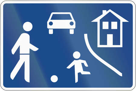 German traffic sign: Home zone. photo