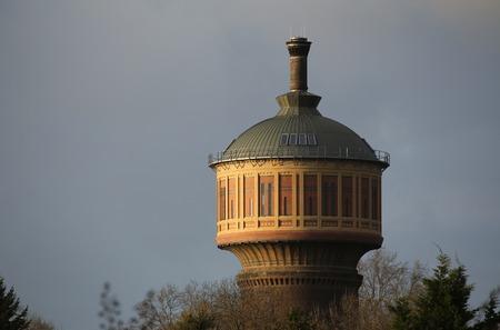 image created 21st century: Old water tower on Magdeburg Buckau, Saxony-Anhalt, Germany.