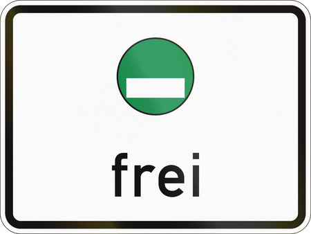 specify: German traffic sign additional panel to specify the meaning of other signs: Vehicles with emission category 4 allowed.