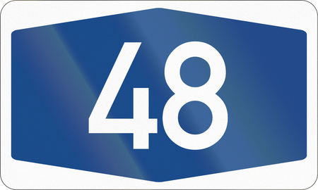 signet: German Autobahn number signet: 48
