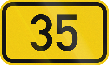 35: German federal road number: 35 Stock Photo