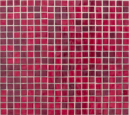 regularity: Texture of red square tiles.