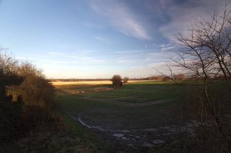 greifswald: View over fields near Greifswald, Mecklenburg-Vorpommern, Germany.