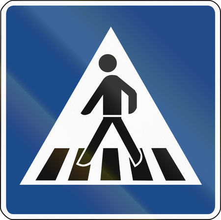German traffic sign: Pedestrian crossing (give way).