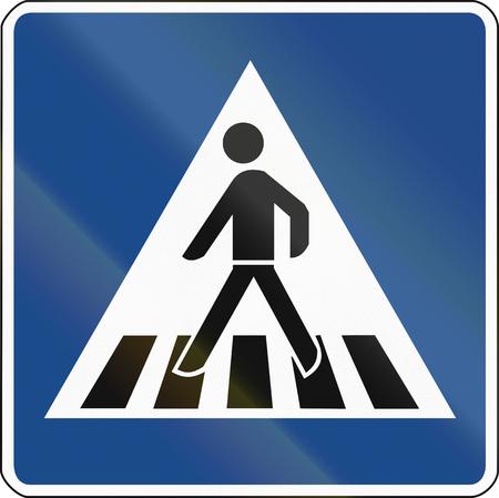 German traffic sign: Pedestrian crossing (give way).