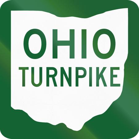 schlagbaum: US Verkehrsschild: Ohio Turnpike.