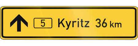number 36: German direction sign (in urban areas) on Federal Roads.