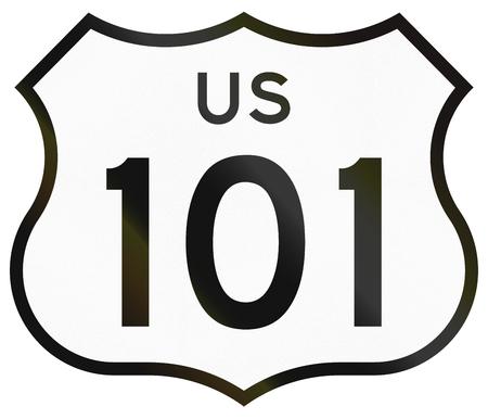 US route shield in California.