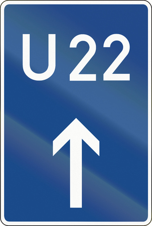 bypass: German sign for motorway by-pass U22.