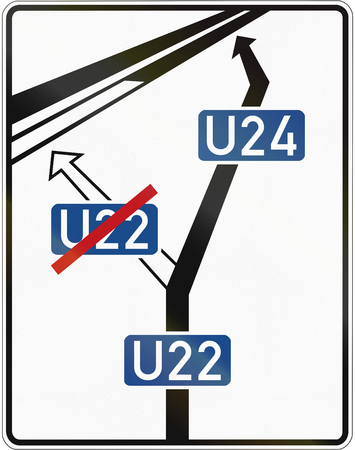bypass: German schematic announcement of motorway bypass.