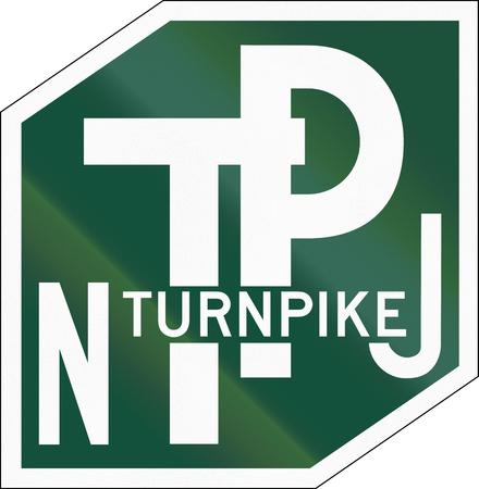 schlagbaum: US New Jersey Turnpike Schild
