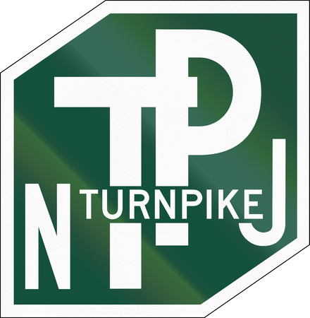 turnpike: US New Jersey Turnpike shield