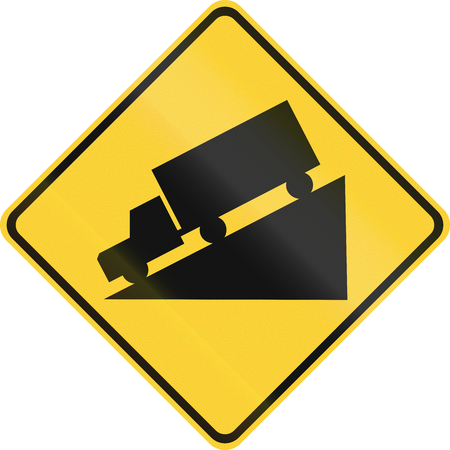steep hill sign stock photos. royalty free steep hill sign images