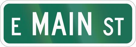 main street: US street sign: Main Street