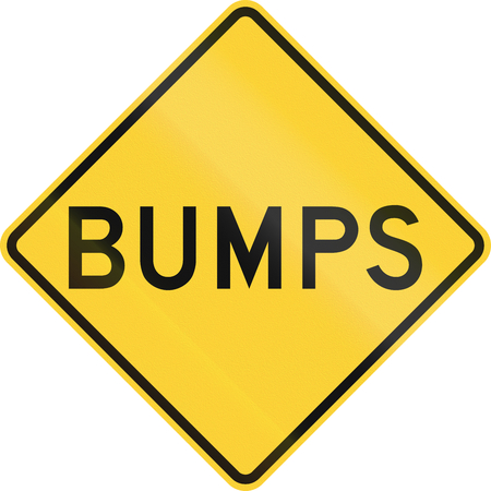 bumpy: US warning traffic sign: Bumps Stock Photo