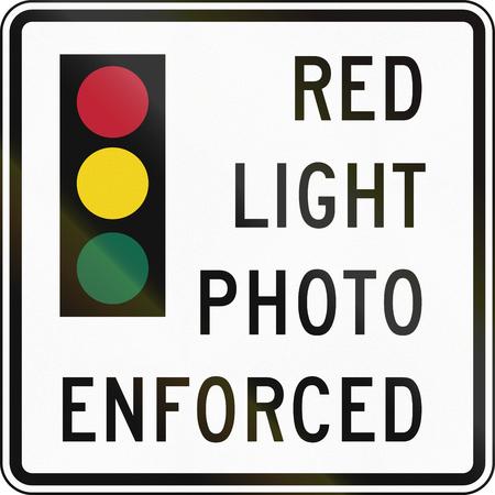 rote ampel: USA Rotlicht Foto gesetzt Zeichen, Delaware