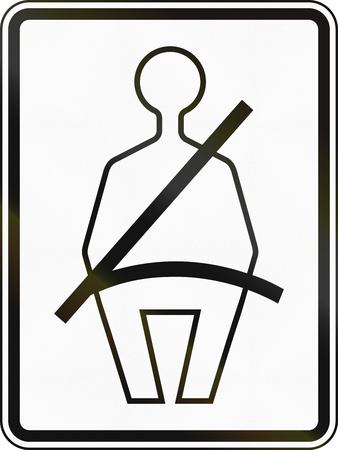 cinturón de seguridad: Estados Unidos señal de tráfico: Cinturón de seguridad