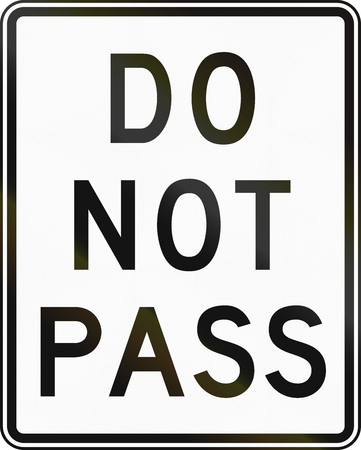 do not: United States traffic sign: Do Not Pass Stock Photo