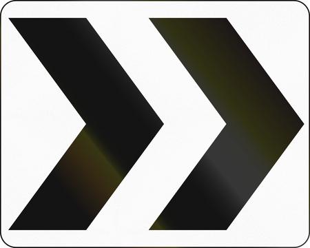 flecha direccion: Se�al de tr�fico de Estados Unidos: Chevron rotonda direccional