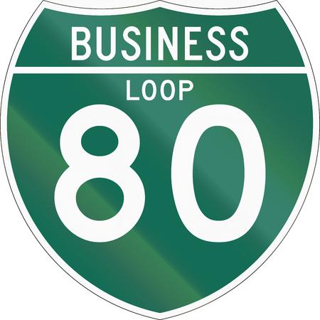 interstate 80: Off-Interstate Business Loop shield.