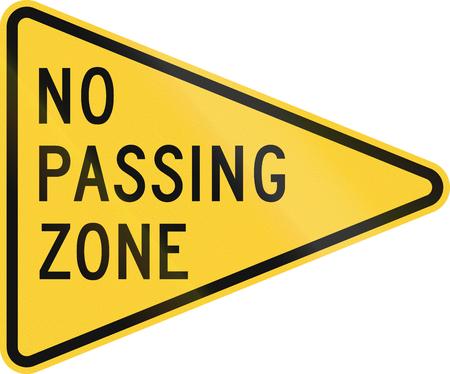 no pase: EE.UU. carretera señal de advertencia: No zona de paso Foto de archivo