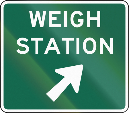 handed: United States MUTCD weigh station sign