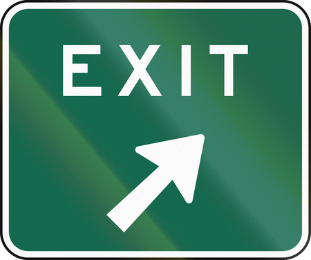 exit sign: United States MUTCD exit sign