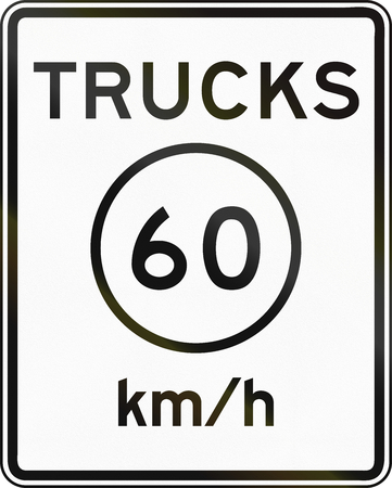 metric: United States metric speed limit sign for trucks