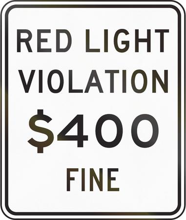 rote ampel: USA Rotlicht Foto Verletzung der feines Zeichen, Kalifornien